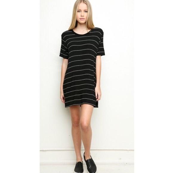 bd5cc057be Brandy Melville Dresses | Luana Bw Striped Tshirt Dress | Poshmark